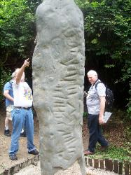 The Serpent Stela at LaVenta Park in Villahermosa