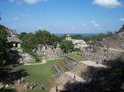 View of Palenque from the Temple of the Foliated Cross