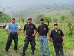 Our new found friends on the police force at Jalapa de Diaz.