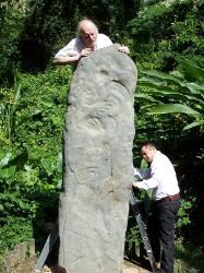 Neil and his old friend viewing the Serpent Stela at LaVenta Park